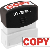 Universal Pre-Inked Message Stamp: Copy