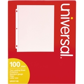 Universal Top Load Standard Clear Polypropylene Sheet Protectors 100 Pk.