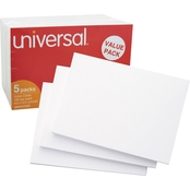 Universal 4 x 6 in. White Unruled Index Cards 500 Pk.