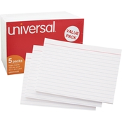 Universal 4 x 6 in. White Ruled Index Cards 500 Pk.
