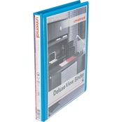 Universal Deluxe Round Ring View Binder, 1/2 In.