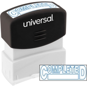 Universal Pre-Inked Blue Message Stamp: Completed