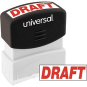 Universal Pre-Inked Red Message Stamp: Draft