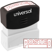 Universal Pre-Inked Red Message Stamp: Posted