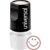 Universal Pre-Inked/Re-Inkable Round Message Stamp