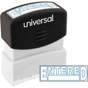 Universal Pre-Inked Blue Message Stamp: Entered