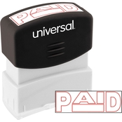 Universal Pre-Inked Red Message Stamp: Paid