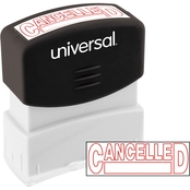 Universal Pre-Inked Red Message Stamp: Cancelled