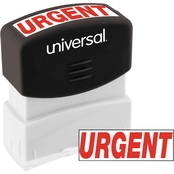 Universal Pre-Inked Red Message Stamp: Urgent