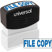 Universal Pre-Inked Blue Message Stamp: File Copy