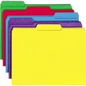 Universal One File Folders, 1/3 Cut Double-Ply Top Tab, Letter, 100 Pk.