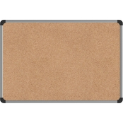 Universal One Cork Board with Aluminum Frame