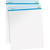 Universal One Sugarcane Based Unruled 27 x 34 in. White Easel Pads 2 Pk.