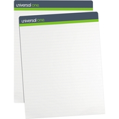 Universal One Sugarcane Based 1 Inch Rule, 27 x 34 in. White Easel Pad 2 Pk.