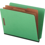 Universal One Pressboard Letter Six-Section End Tab Folder 10 Pk.