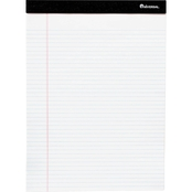 Universal One Perforated Edge Ruled Writing Pads, Jr. Legal, 6 Pk., White