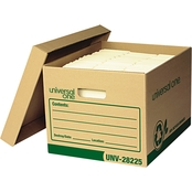 Universal One Recycled Record Letter/Legal Kraft Storage Box 12 Pk.