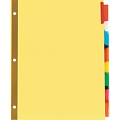 Universal One Extended Assorted Color 8 Tab Insert Buff Letter Index 6 Pk.
