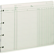 Wilson Jones 9 1/4 x 11 7/8 Loose End Balance Ledger Accounting Sheets 100 Pk.