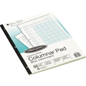 Wilson Jones 8 1/2 x 11 Accounting Pad with Five Eight-Unit Columns