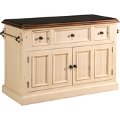 Hillsdale Tuscan Retreat Large Granite Top Kitchen Island