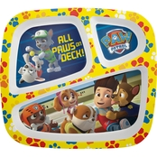 Nickelodeon Boys Zak Designs PAW Patrol 3 Section Plate