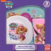 Zak Designs Girls PAW Patrol 3 Pc. Window Box Set (Plate, Bowl and Tumbler)