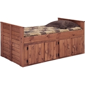 Chelsea Home Furniture Twin Bed with 4 Door Storage