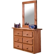Chelsea Home Mini 6 Drawer Dresser and Mirror
