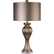 Dimond Lighting Copper Ribbed Tulip Table Lamp