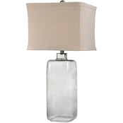 Dimond Lighting Hammered Gray Glass Table Lamp