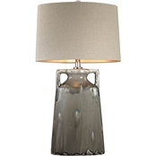Dimond Lighting Gray Reaction Glaze Urn Table Lamp