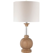 Dimond Lighting Wood and Crystal Table Lamp