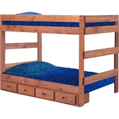 Chelsea Home Furniture Full Over Full Bunk Bed with Storage