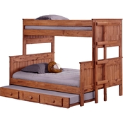 Chelsea Home Furniture Twin Over Full Stackable Bunk Bed with Trundle