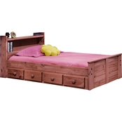 Chelsea Home Furniture Twin Bed with Bookcase Headboard and Storage