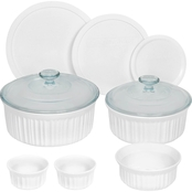 Corningware French White 10 Pc. Round Bakeware Set