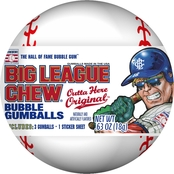Ford Gum Big League Chew Gumball and Sticker Filled Baseballs