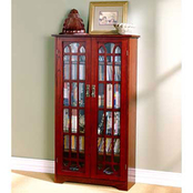 SEI Double Door Media Cabinet, Cherry Finish