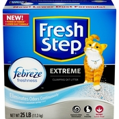 Clorox Fresh Step Extreme Odor Control Febreze Scented Cat Litter 25 lb.