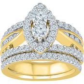 2 In Love 14K Yellow Gold 2 CTW Diamond Bridal Ring
