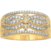 14K Yellow Gold 1/2 CTW Diamond Ring