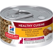 Science Diet Adult Healthy Cuisine Roasted Chicken and Rice Medley Cat Food