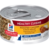 Science Diet Healthy Cuisine Adult 7+ Roasted Chicken and Rice Canned Cat Food