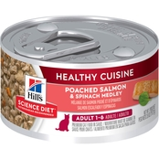 Science Diet Adult Healthy Cuisine Poached Salmon and Spinach Cat Food, 2.8 oz