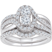 2 In Love 14K White Gold 1 1/4 CTW Diamond Bridal Ring