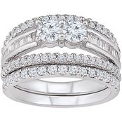 2 In Love 14K White Gold 1 1/2 CTW Diamond Bridal Ring
