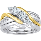 2 In Love 14K Two Tone Gold 3/4 CTW Diamond Bridal Ring