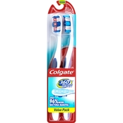 Colgate 360 Adult Toothbrush, Full Head Medium, 2 pk.
