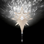 Gemmy Lightshow Projection Tree Topper, Kaleidoscope, Champagne (White)